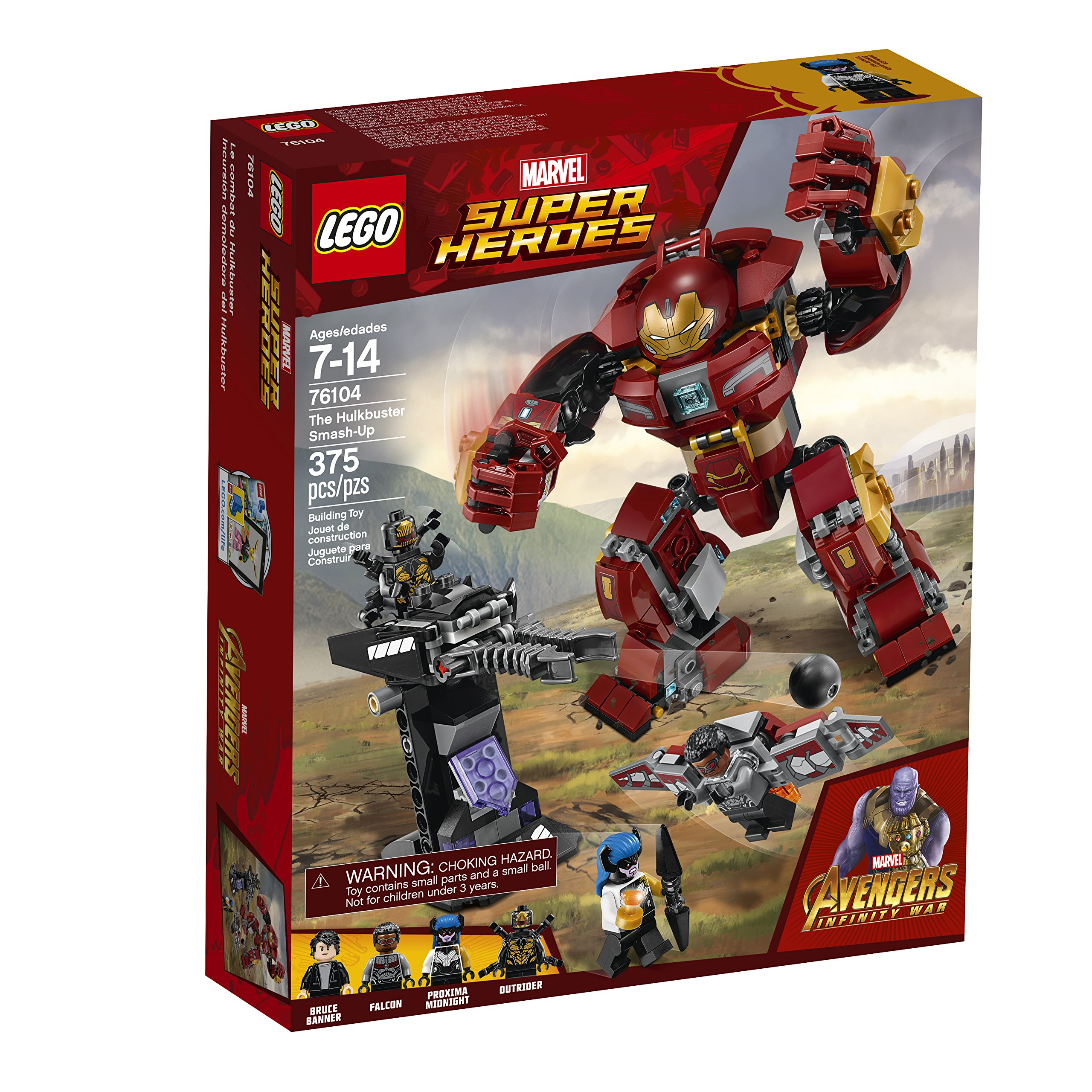 LEGO Marvel Super Heroes Avengers: Infinity War The Hulkbuster Smash-Up 76104 Building Kit (375 Piece) by LEGO (Image #8)