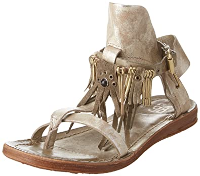 A.S.98 Women's Ramos Gladiator Sandals, Silber (Rino+ Militare)