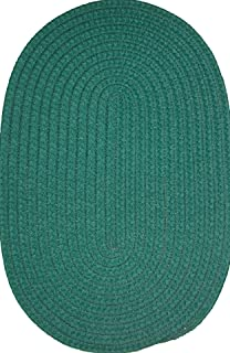 product image for Constitution Rugs Veranda Patio 2' x 6' (Runner) Braided Rug in Hunter Green