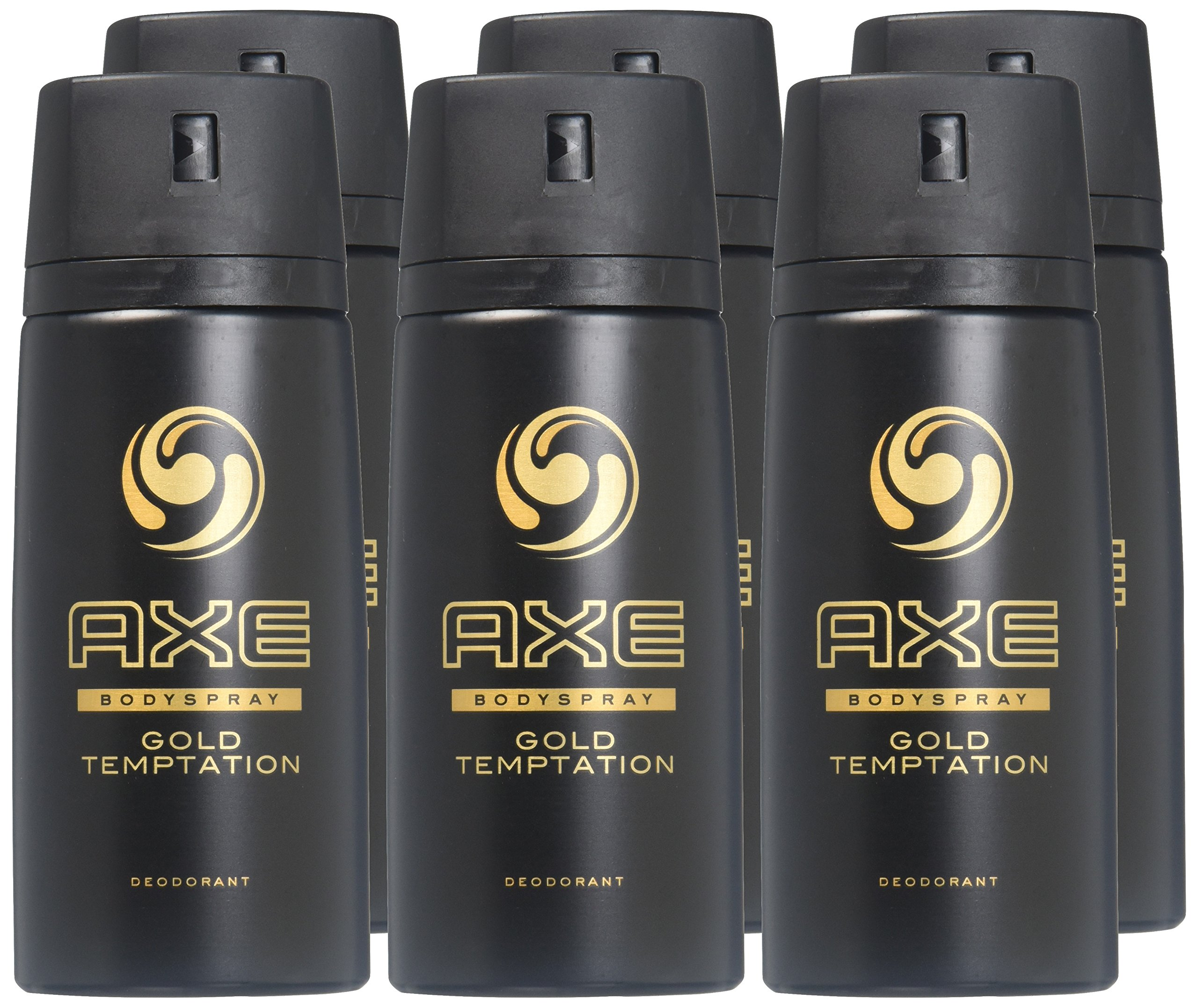 AXE Deodorant Bodyspray, Gold Temptation 4 oz (Pack of 6) by AXE (Image #2)