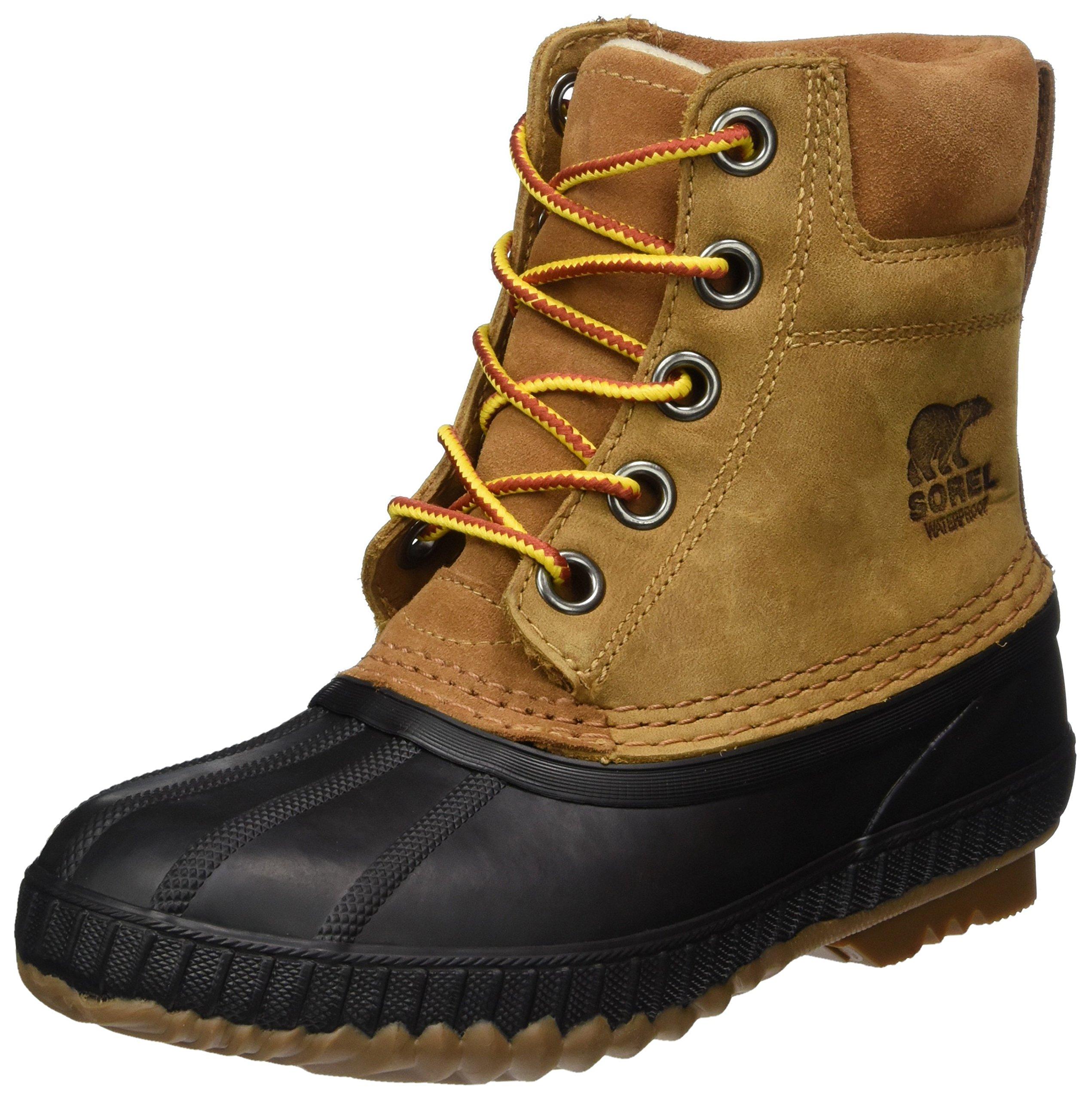 SOREL Boys' Youth Cheyanne II Lace Chukka Boot elk, Black 7 M US Big Kid