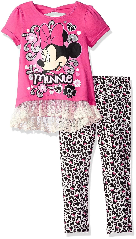 Disney Little Girls Minnie Mouse Hi Lo Tunic with Bow Back Leg Set