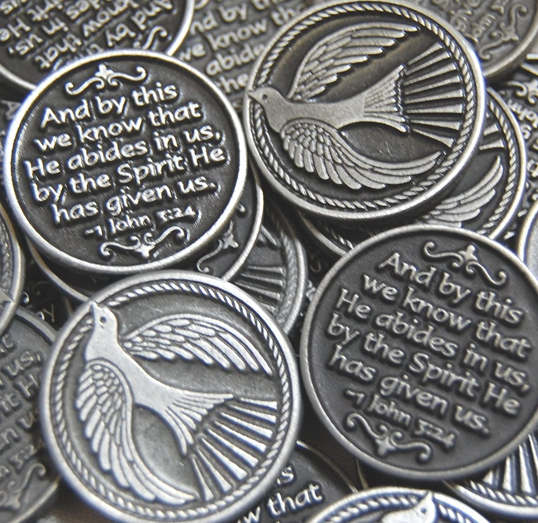 10 Set of 10 Dove Holy Spirit Pocket Token Coins 5671