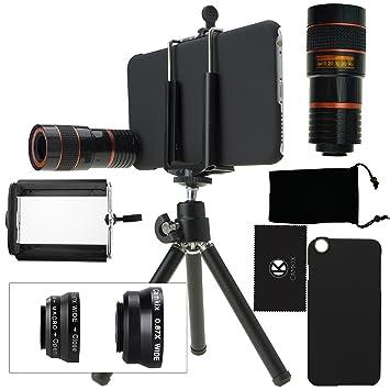 Juego de Lentes para Camara iPhone 6 Plus / 6S Plus incluye Lente Telefoto 8x /