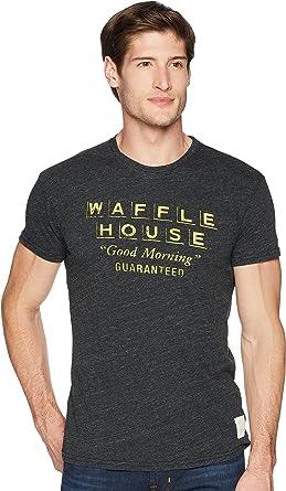 fd7d52ab0a8 Original Retro Brand The Men s Short Sleeve Vintage Tri-Blend Waffle House  Tee Streaky Black