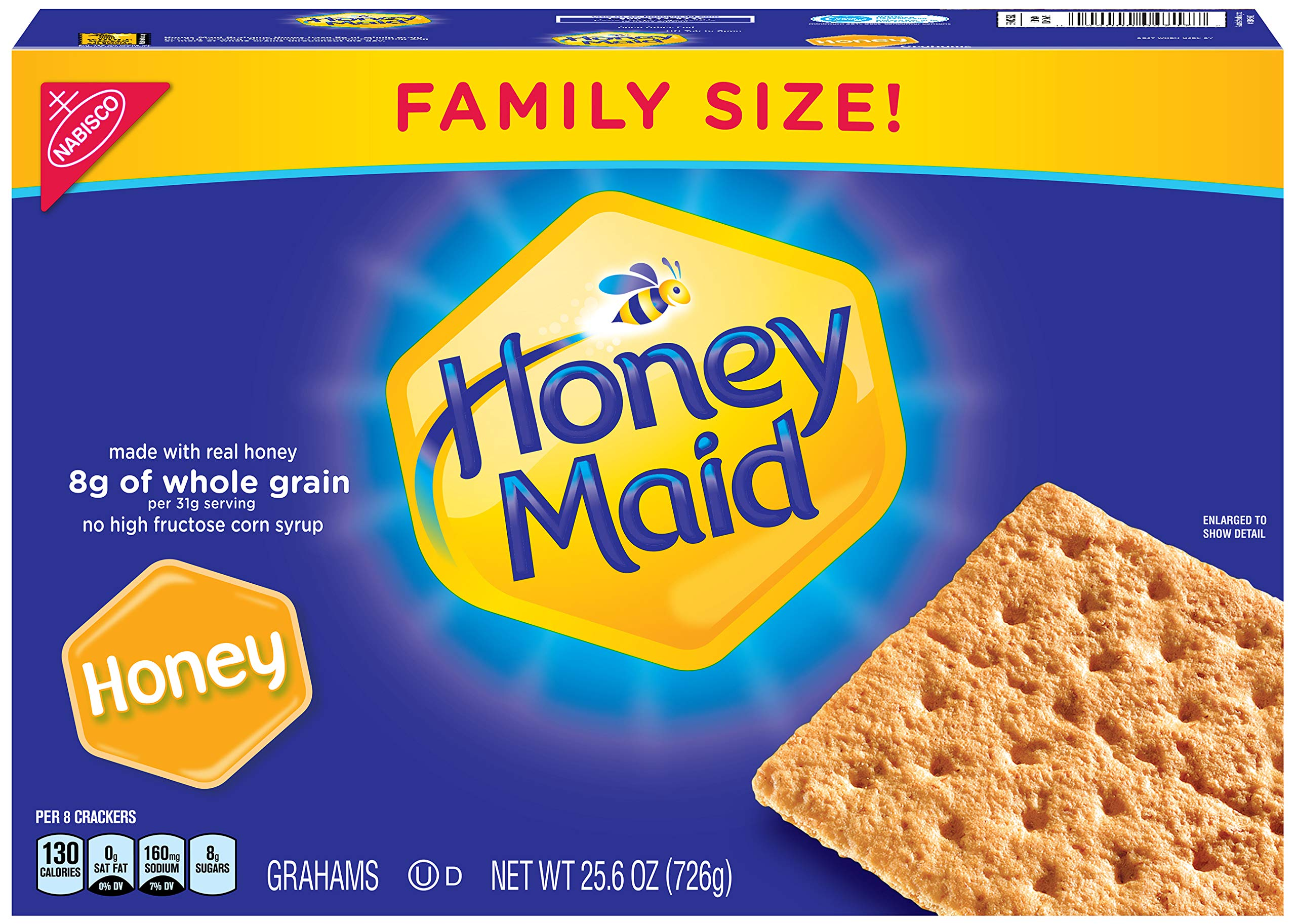 Honey Maid Honey Graham Crackers - Family Size, 25.6 Ounce (Pack of 6)