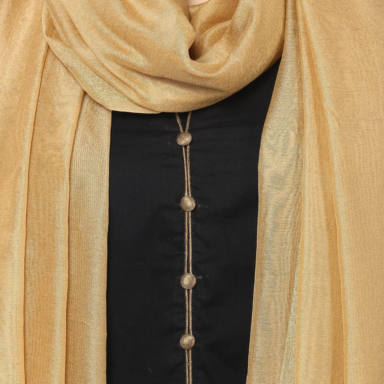 Scarf Dupatta Bazaar Indian Plain Silk Dupatta,Stole Chunni for Woman