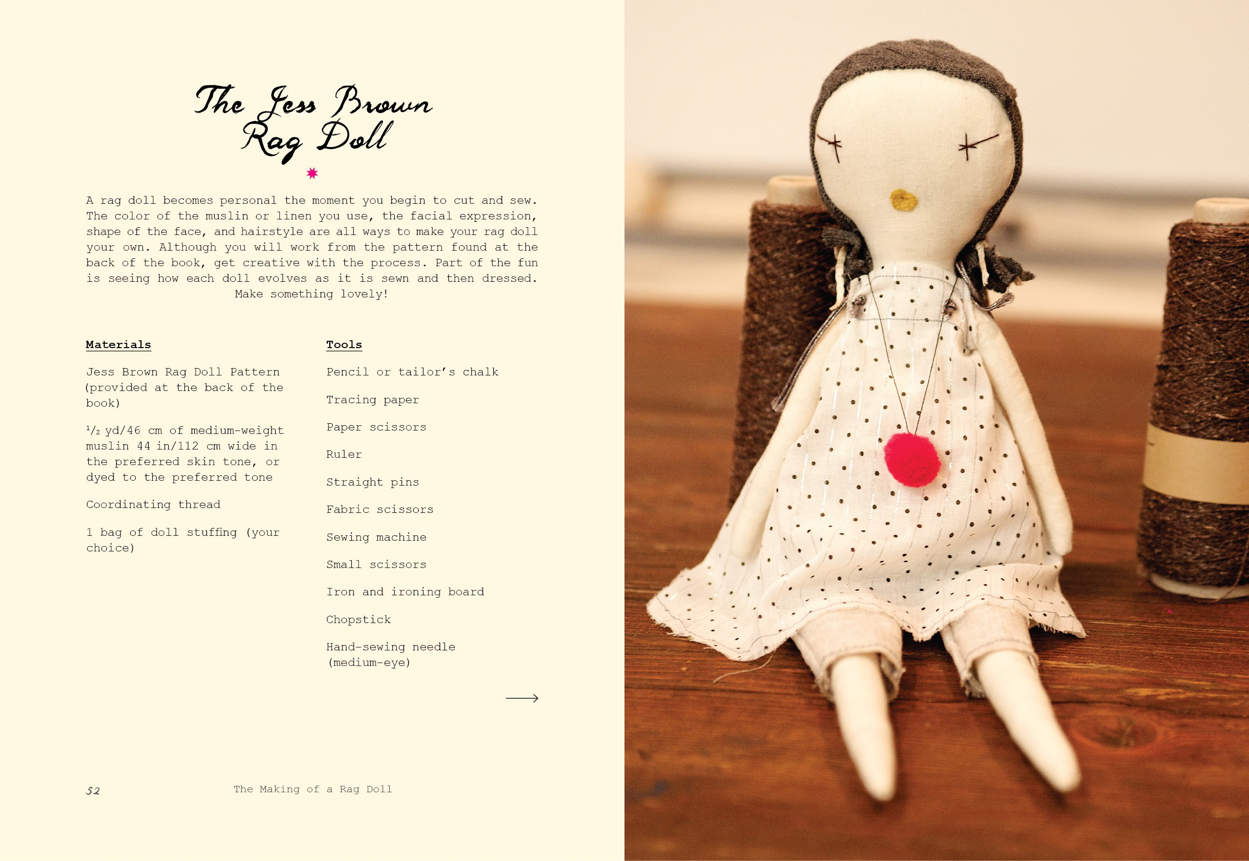 The Making of a Rag Doll: Design & Sew Modern Heirlooms: Jess Brown ...