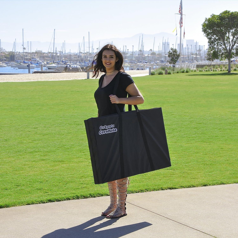 GoSports Cornhole Bean Bag Toss Game Set Superior Aluminum Frame