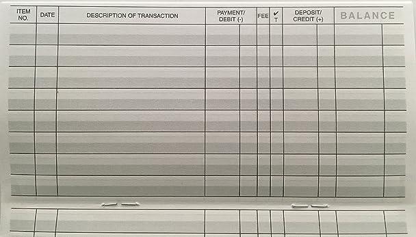 check transaction register book