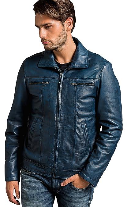 Urban Leather Calvin - para hombre Chaqueta de piel: Amazon.es ...