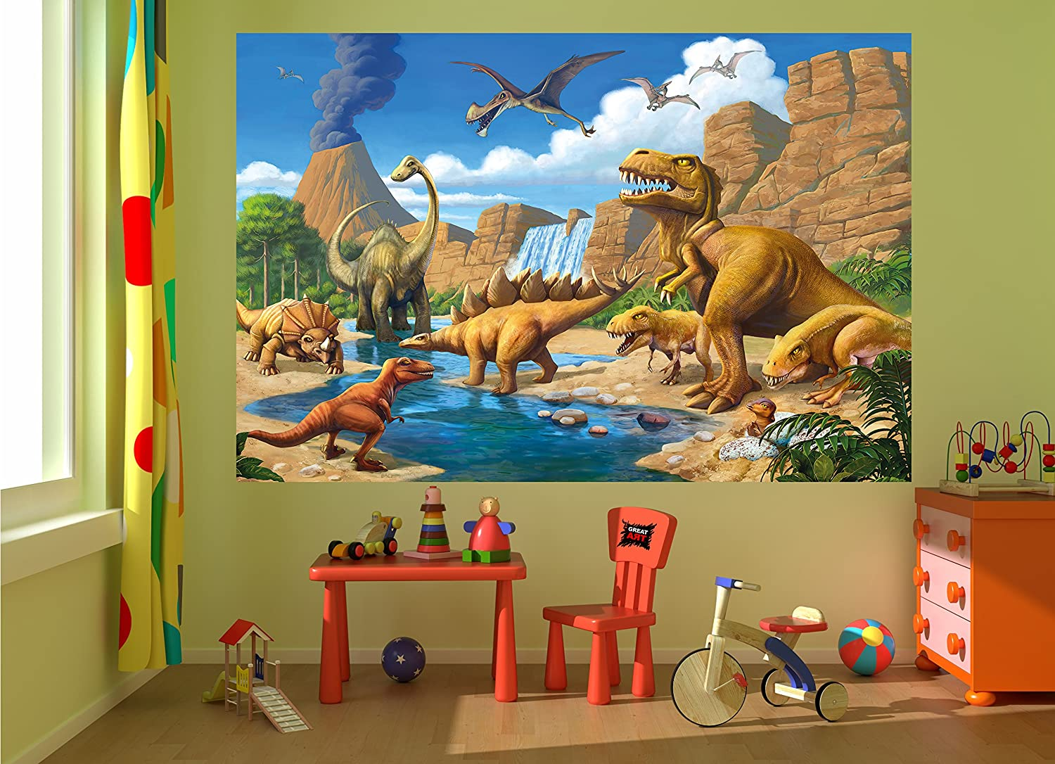 Amazon Wallpaper Childrens Room Adventure Dinosaur Wall