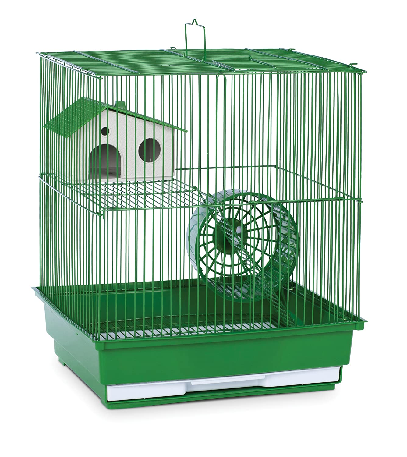 Green Prevue Hendryx Two Story Hamster and Gerbil Cage, Red