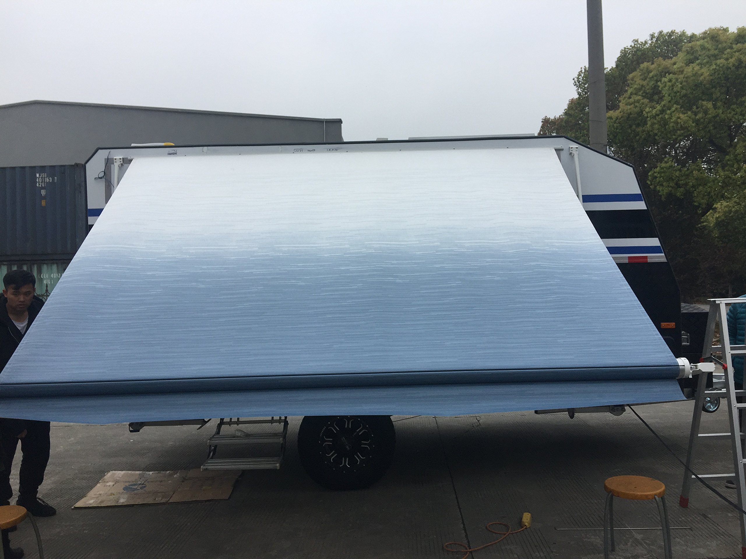 Awning Measured from Center Arm to Center Arm Awnlux 14 Feet 2 Inch Trailer Awning Fabric for 15 Feet Awning
