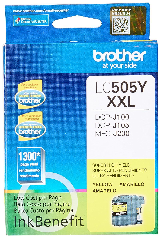 Brother LC-505Y cartucho de tinta Original Amarillo 1 pieza(s ...