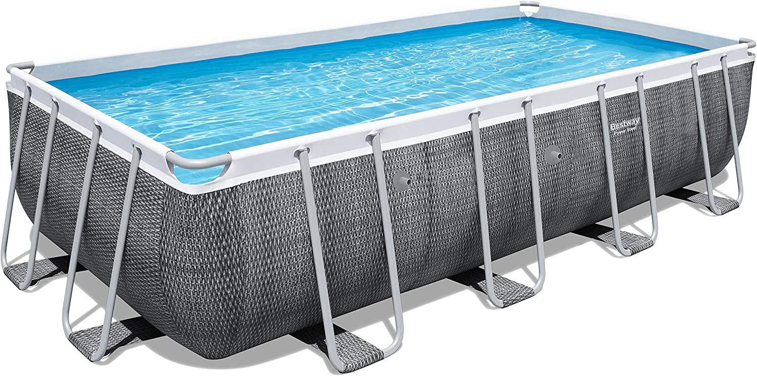 Bestway Power Steel Piscina Solo Estructura, ratán Gris: Amazon.es: Jardín