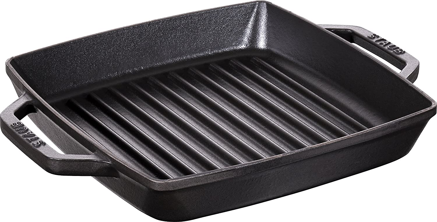 Staub Double Handle Grill Square 13