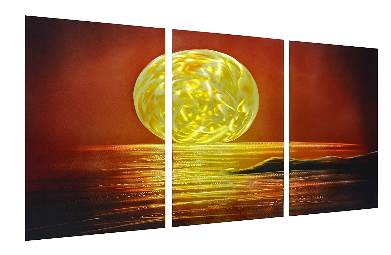 Amazon.com: Sunset Metal Wall Art Hanging Decor - Nautical Large ...