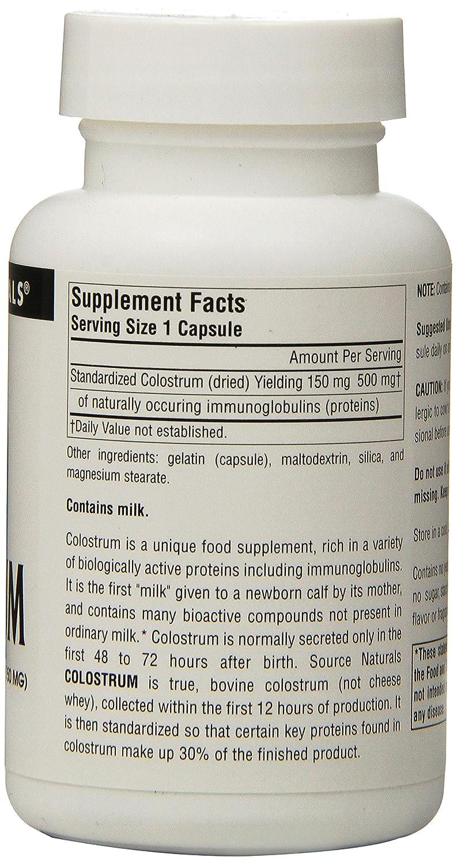 Source Naturals - calostro 30% inmunoglobulinas 150 mg 500 ...