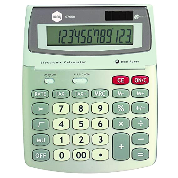 MARBIG(R) 97650 Calculator, Desktop 12 Digit GST: Office