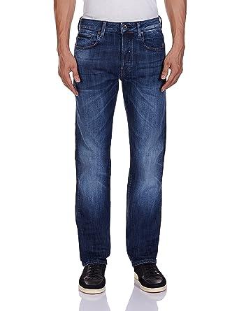 eba4b213d96 G-Star Raw Men's Attacc Straight Fit Jean In Blue Delm Stretch Denim Dark  Aged