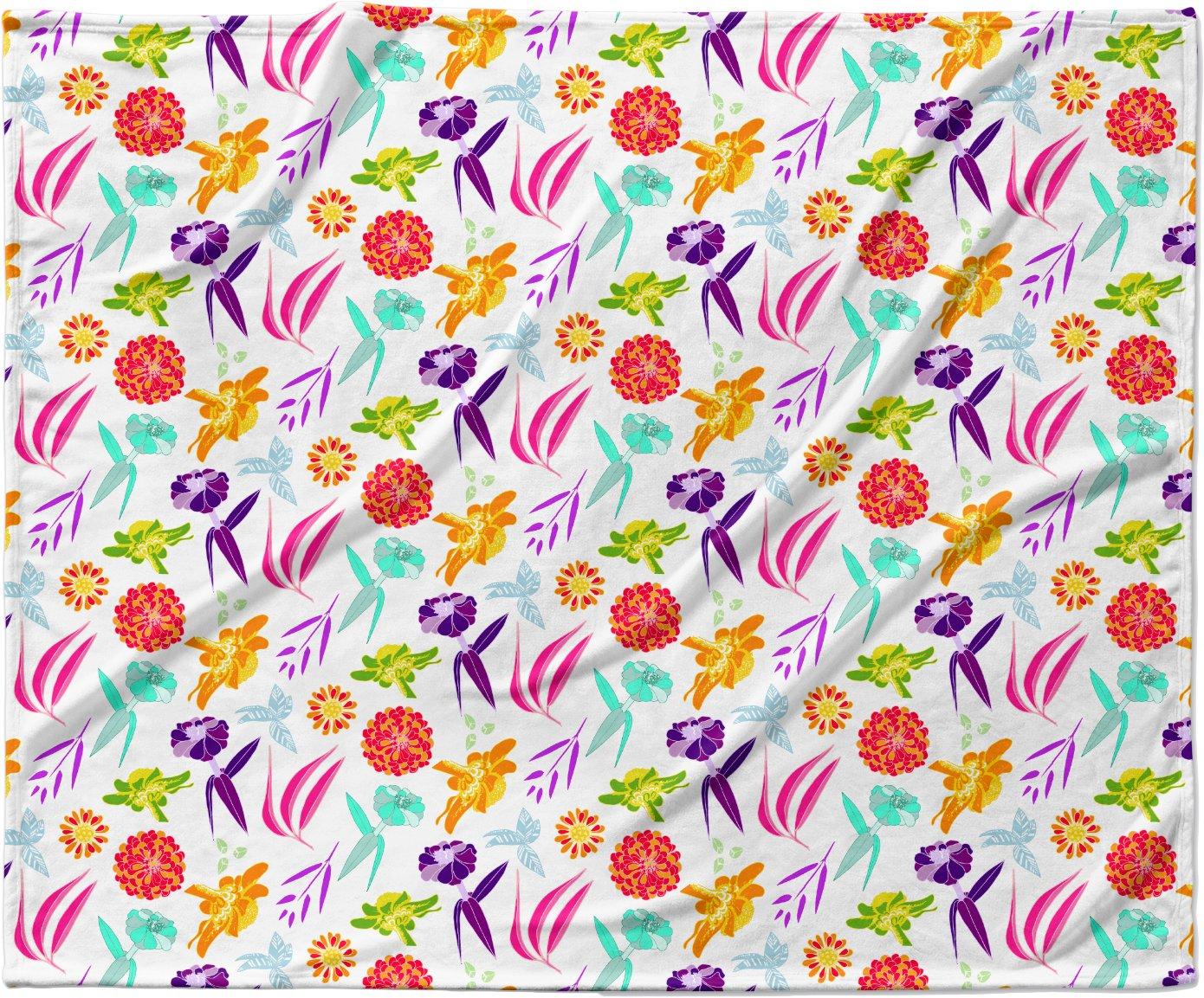40 x 30 KESS InHouse Anchobee Iris Multicolor Pattern Fleece Baby Blanket