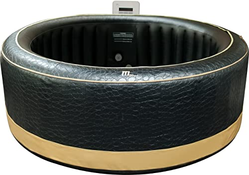 MSPA Luxury Exotic Relaxation and Hydrotherapy Spa with Crocodile Skin Pattern and Gold Trim M-113S