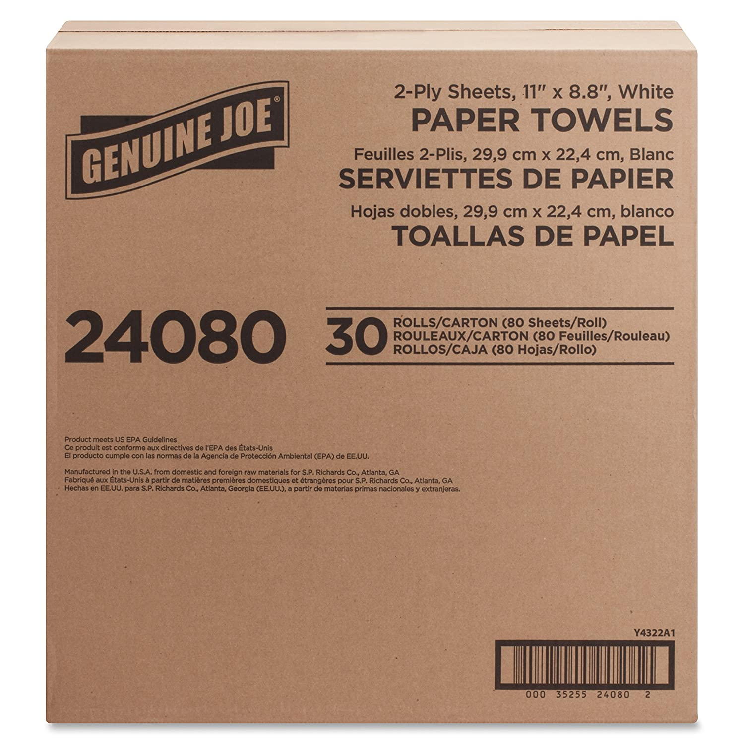 Amazon.com: Genuine Joe GJO24080 2-Ply Household Roll Paper Towels (Pack of 30): Industrial & Scientific