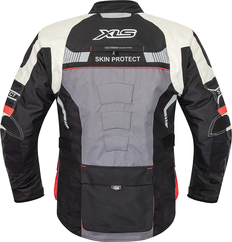 Traje de motorista de alta calidad de XLS X-Drive textil transpirable e impermeable.