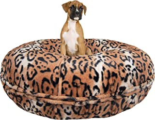 product image for BESSIE AND BARNIE Signature Chepard Luxury Extra Plush Faux Fur Bagel Pet/Dog Bed