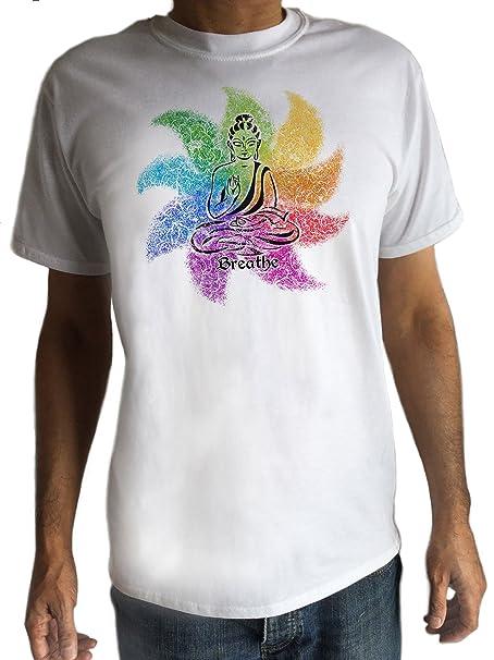 Camiseta Hombre Meditación de Buda Yoga Florido Hobo Boho ...