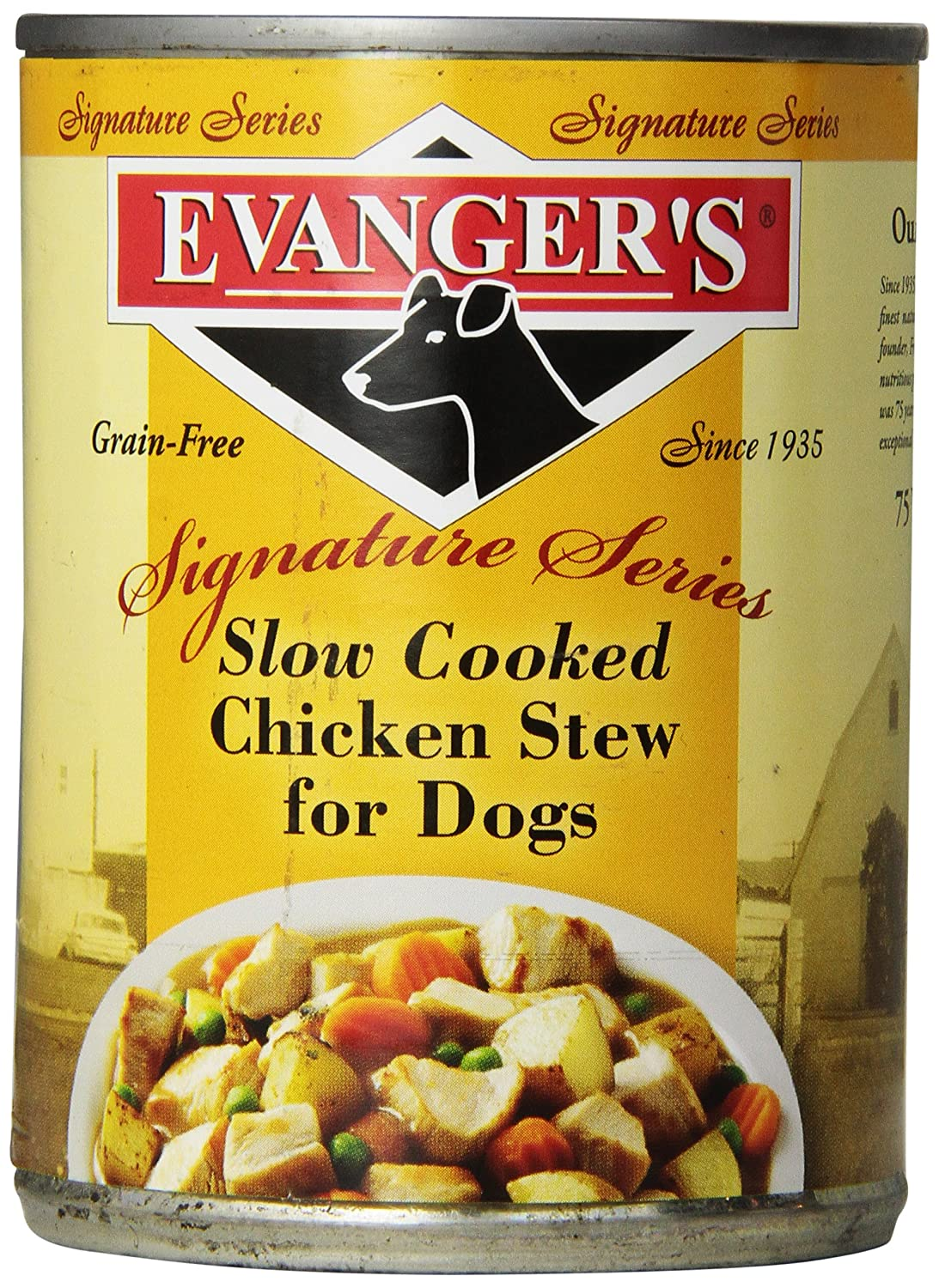 Evanger S, Slow Cooked Chicken Stew For Dogs, 12 Pack, 12-Ounce Cans