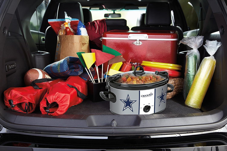 Crock-Pot Dallas Cowboys NFL Cook Carry Slow Cooker with Bonus 16-ounce Little Dipper Food Warmer