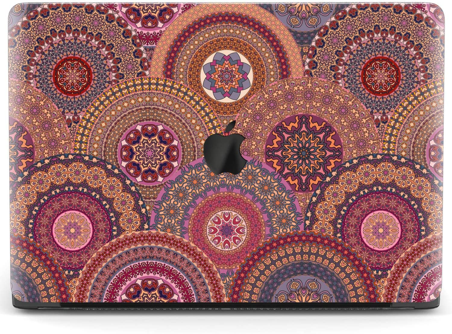 Mertak Hard Case for Apple MacBook Pro 16 Air 13 inch Mac 15 Retina 12 11 2020 2019 2018 2017 Mandala Traditional Laptop Pattern Clear Cover Arabic Protective Print Moroccan Ornament Touch Bar