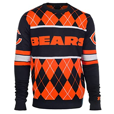 size 40 97fd1 95a8b Klew Chicago Bears Exclusive Argyle Sweater Large at Amazon ...