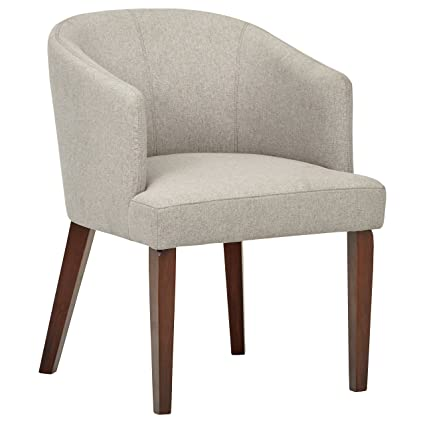 Surprising Rivet Alfred Mid Century Modern Upholstered Wide Curved Back Accent Kitchen Dining Room Chair 25 2W Felt Grey Machost Co Dining Chair Design Ideas Machostcouk