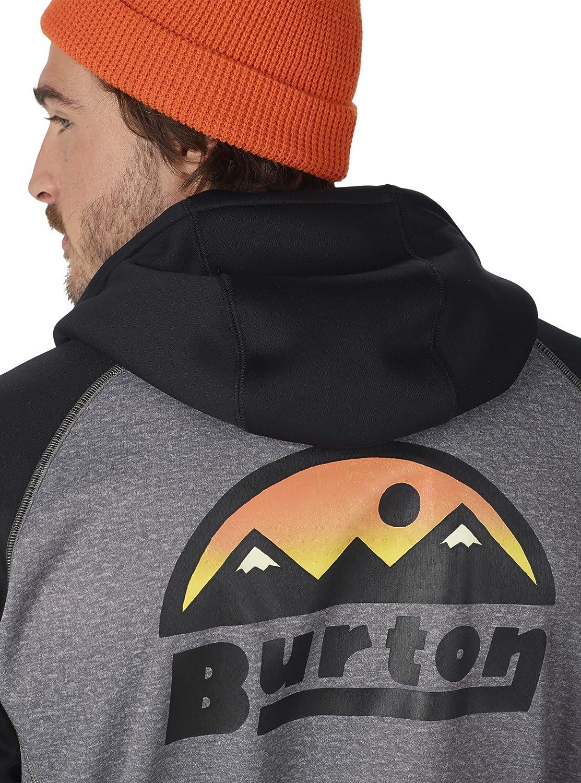 Burton Mens Crown Bonded Full Zip Hoodie Sweatshirt