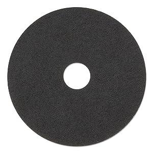 "3M 08379 Low-Speed Stripper Floor Pad 7200, 17"" Diameter, Black (Case of 5)"