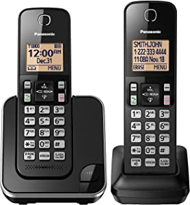 Panasonic KX-TGC352B / KX-TGC382B Dect 6.0 2-Handset Landline Telephone (Renewed)