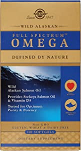 Solgar Wild Alaskan Full Spectrum™ Omega, Tested for Optimum Purity & Potency, Non-GMO, 120 Softgels
