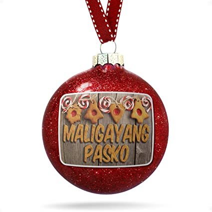 Merry Christmas In Tagalog.Amazon Com Neonblond Christmas Decoration Merry Christmas
