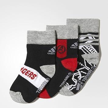 Adidas Marvel AV So Calcetines, Niños, (Negro/Escarl / Brgrin), 19-22: Amazon.es: Deportes y aire libre