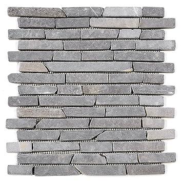 DIVERO 11 Matten 30 X 30cm Marmor Naturstein Mosaik Stäbchen Mosaik Fliesen  Für Wand