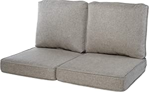 Quality Outdoor Living 29-GY02LV Loveseat Cushion, 44 x 25 4PC, Gray