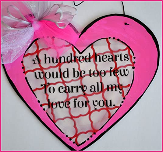 valentines day decor valentines day gift valentine heart door hanger romantic wall