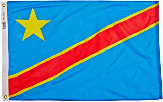 product image for Annin Flagmakers Model 199460 Dem. Republic of Congo Flag Nylon SolarGuard NYL-Glo, 2x3 ft, 100% Made in USA to Official United Nations Design Specifications