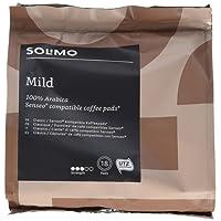 Marchio Amazon- Solimo Cialde Mild, compatibili con Senseo - caffè certificato UTZ, 90 cialde (5x18)