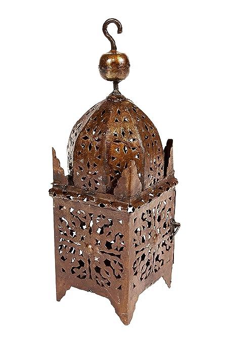 Marrakesch rostige Linterna de Metal marroquí (40 cm Grande ...