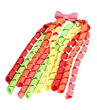 Grosgrain Korker Ribbon Hair Bobbles ideal for Pig tails and pony tails   Amazon.co.uk  Beauty bf2c63cd2ce