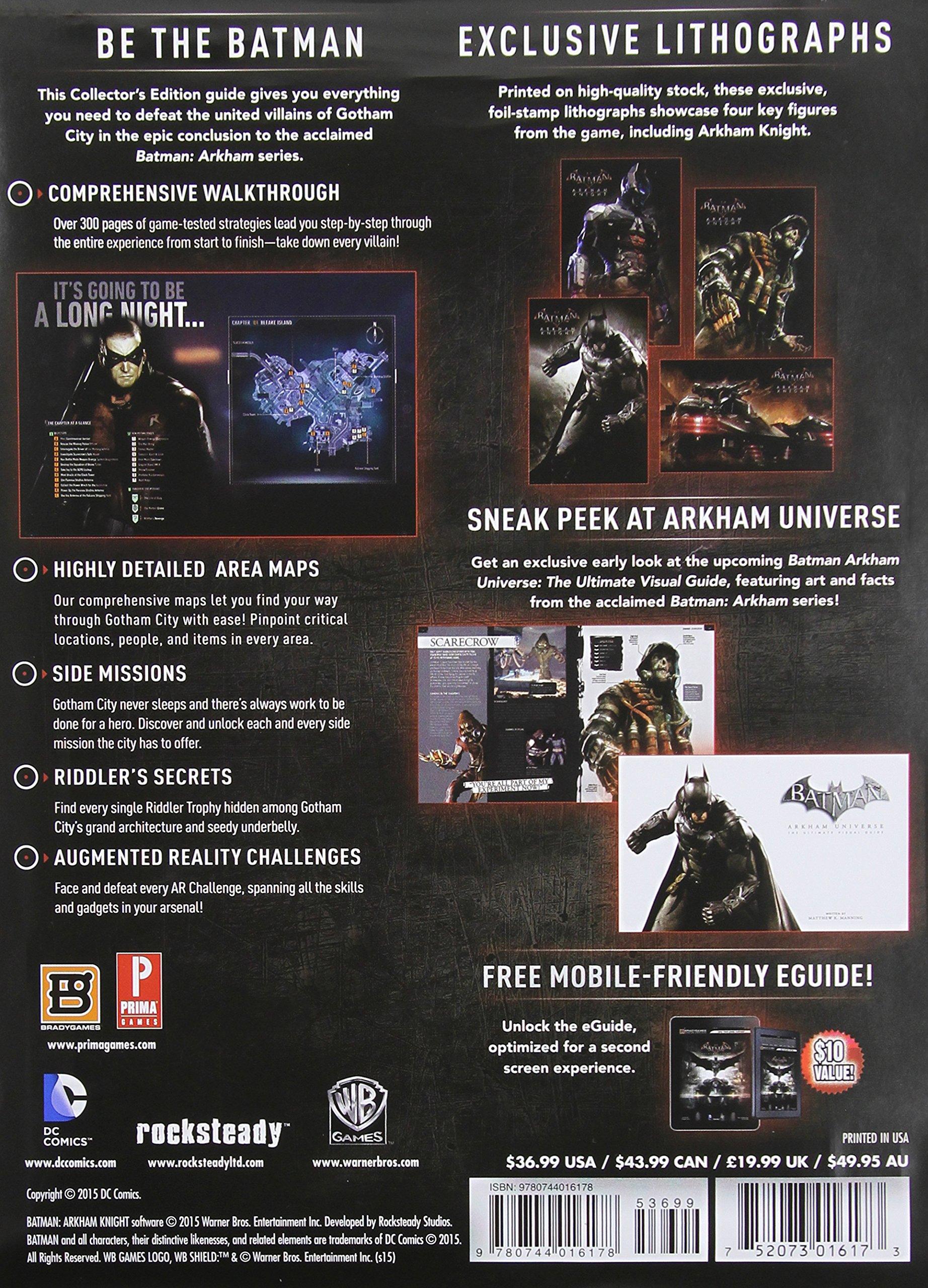 Batman Arkham Knight Collectors Edition BradyGames 9780744016178 Amazon Books